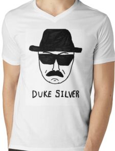 Duke Silver Mens V-Neck T-Shirt