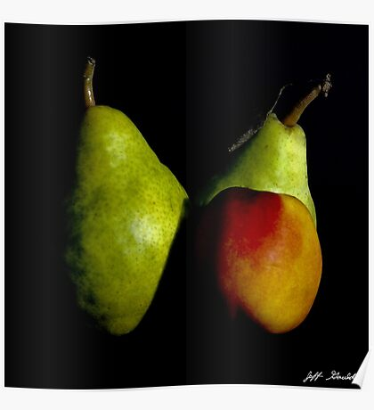 Pear and Nectarine Still Life Poster