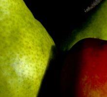 Pear and Nectarine Still Life Sticker