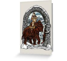 Rider Mammoth Greeting Card
