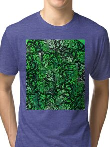 green abstract butterfly wings Tri-blend T-Shirt