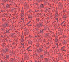 Popculture & Food Pattern by fabric8
