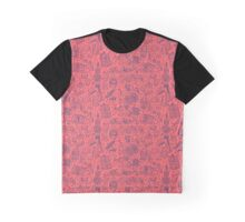 Popculture & Food Pattern Graphic T-Shirt