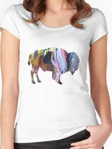 bison Women's Fitted Scoop T-Shirt