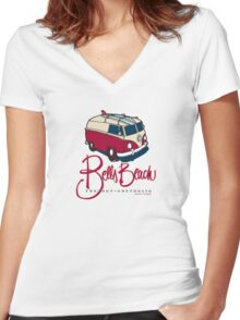 Tourist Bus Women's Fitted V-Neck T-Shirt