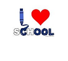 Cool ! I love school Photographic Print