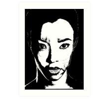 The Walking Dead: Sasha Art Print