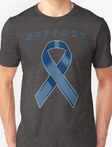 Navy Blue Awareness Ribbon of Support T-Shirt