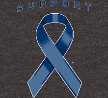 Navy Blue Awareness Ribbon of Support Unisex T-Shirt