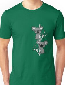 2 sweet little cute koalas grapple buddies team couple of eucalyptus tree Unisex T-Shirt