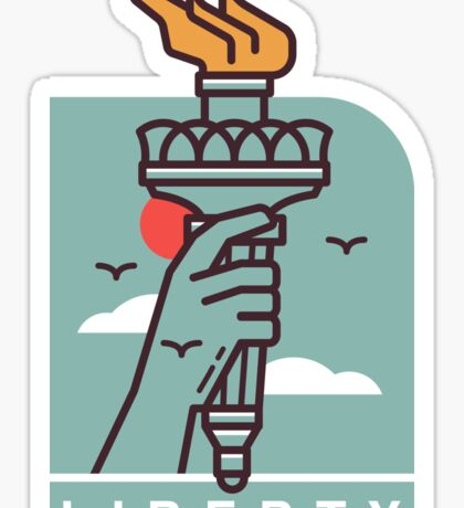 Statue of Loberty Torch Sticker