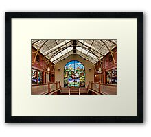 Shopping Arcade  Framed Print
