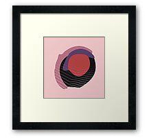 Stain Mauve Framed Print