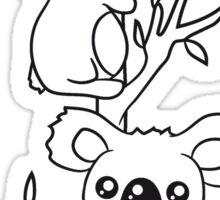 2 sweet little cute koalas grapple buddies team couple of eucalyptus tree Sticker
