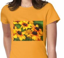 Summerina Yellow Womens Fitted T-Shirt