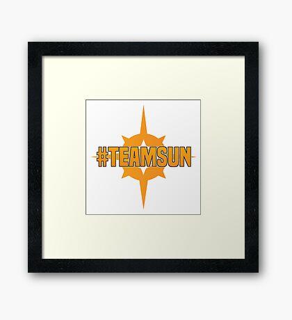 Pokemon Sun & Moon #TeamSun Framed Print