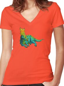 Chasmosaurus belli Women's Fitted V-Neck T-Shirt