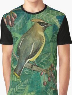 Cedar Waxwing Graphic T-Shirt