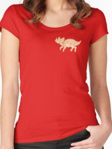 teensy triceratops Women's Fitted Scoop T-Shirt