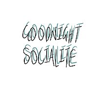 Goodnight Socialite (Aqua) Photographic Print