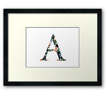 Alpha Floral Greek Letter Framed Print
