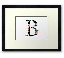 Beta Floral Greek Letter Framed Print