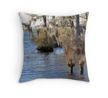 Moss on the Trees Throw Pillow