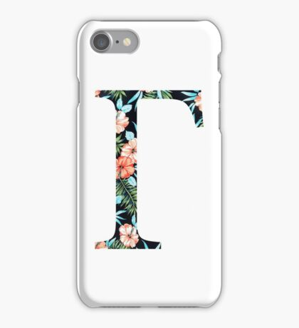Gamma Floral Geek Letter iPhone Case/Skin