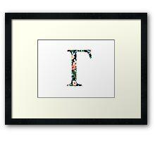 Gamma Floral Geek Letter Framed Print