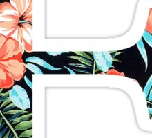 Epsilon Floral Greek Letter Design Sticker