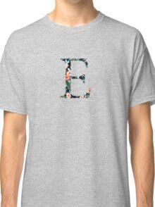 Epsilon Floral Greek Letter Design Classic T-Shirt