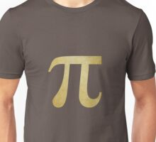 Yellow Pi Symbol Unisex T-Shirt