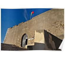 Facade of the medieval castle of Castro Marim Poster