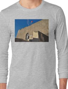 Facade of the medieval castle of Castro Marim Long Sleeve T-Shirt