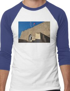 Facade of the medieval castle of Castro Marim Men's Baseball ¾ T-Shirt