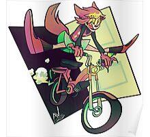 DREAMING WEREWOLF MOTORCYCLIST Poster