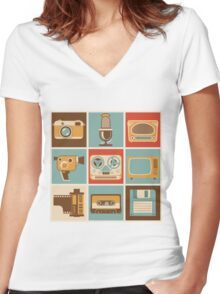 Antiques Women's Fitted V-Neck T-Shirt