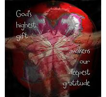 God's Highest Gift Photographic Print