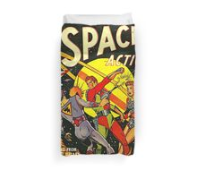 SPACE ACTION Comic Duvet Cover