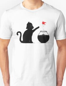 Black Cat And Red Fish T-Shirt