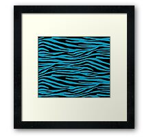 0051 Blue Green Tiger Framed Print