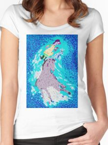 A Horse a Woman and a Dog Women's Fitted Scoop T-Shirt