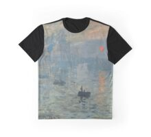 Monet Impression Sunrise Fine Art Graphic T-Shirt