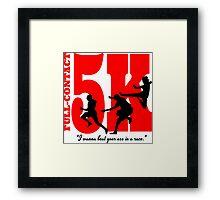 Funny Running - Full Contact 5k Framed Print