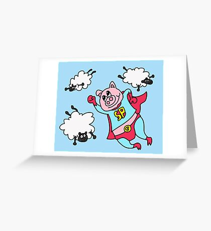 Is it a bird? Is it a plane?  Greeting Card