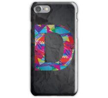 Fun Letter - D iPhone Case/Skin