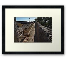 Walking on the Castle Wall Framed Print