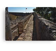 Walking on the Castle Wall Canvas Print