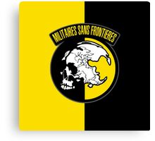 MGS - Militaires Sans Frontieres Logo Canvas Print