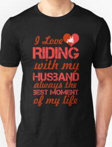I Love Riding With My Husband T-Shirt